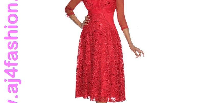 137584 -1 Pc Dress - Red
