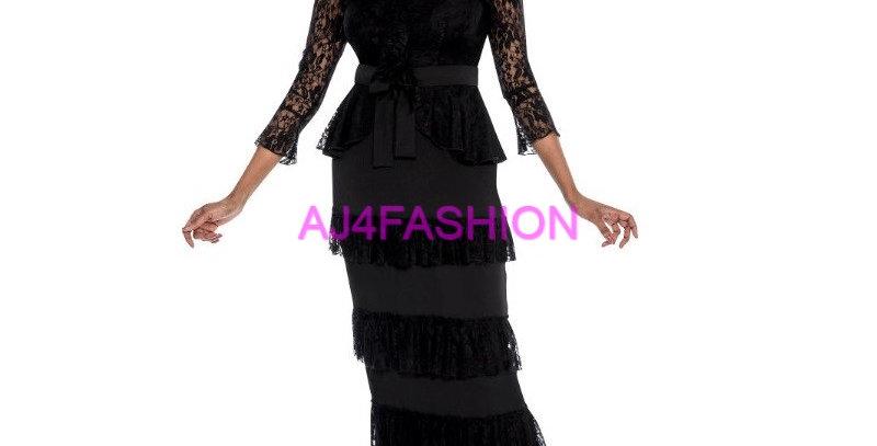 275164 - 2 Pcs Top  & Skirt- Black