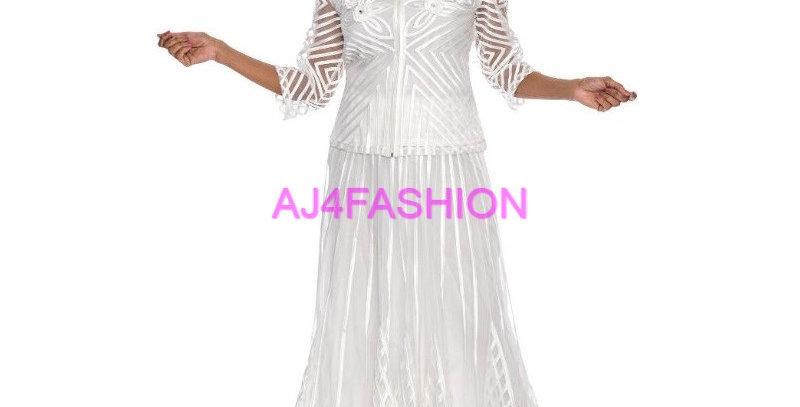 135904 - 2 Pcs Skirt set -Off White
