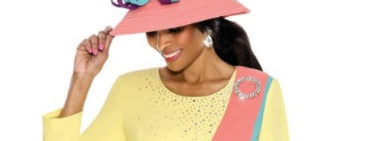 137814 - HAT - Yellow Multi