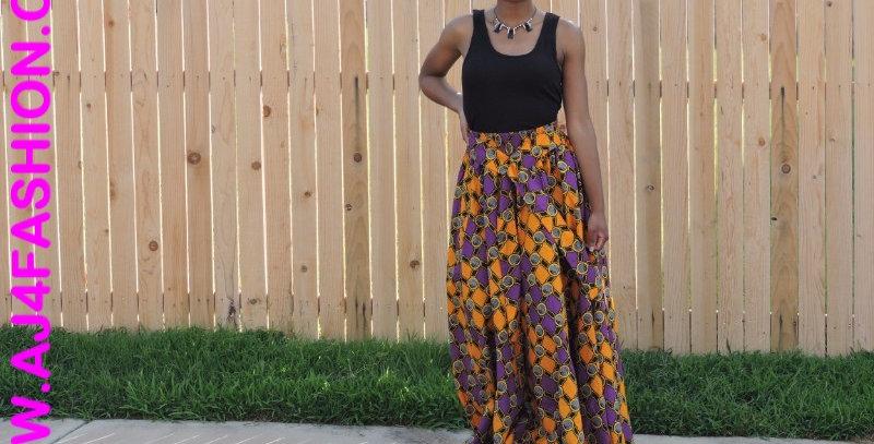 African Skirt Elastic Waist - AJ4F256-7001