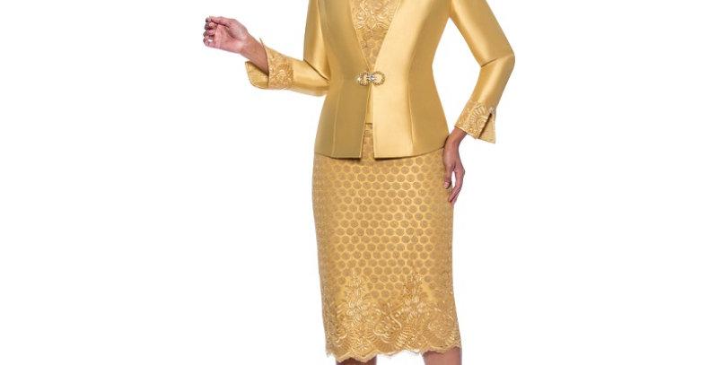 139414 - 3Pcs Suit Plus Hat- Gold