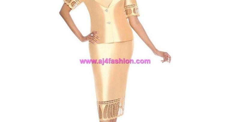 274704 - 2 Pcs Suit Gold (Light summer suit)