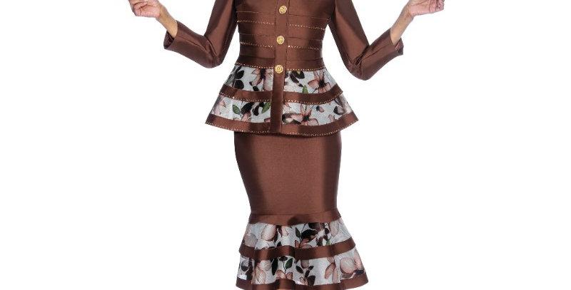 138414 - 2pcs Suit - Brown