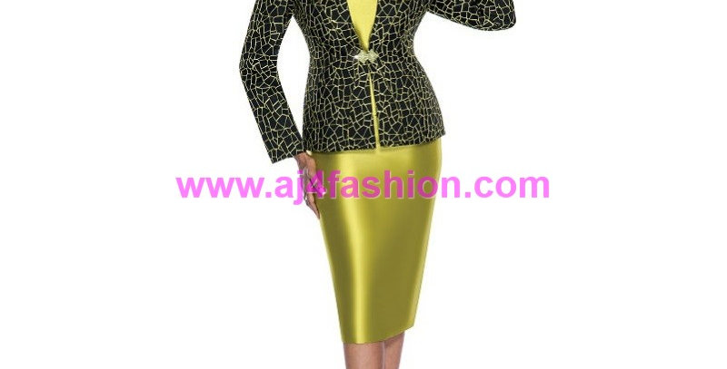 136444 - 3 Pcs Suit -Green/Black