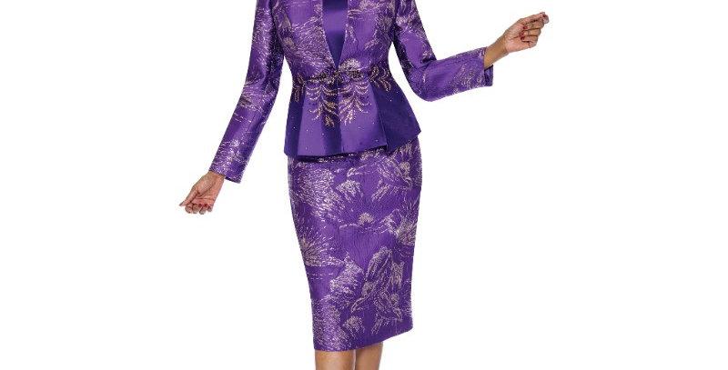 138584 - 3 Pcs Suit Plus Hat - Purple