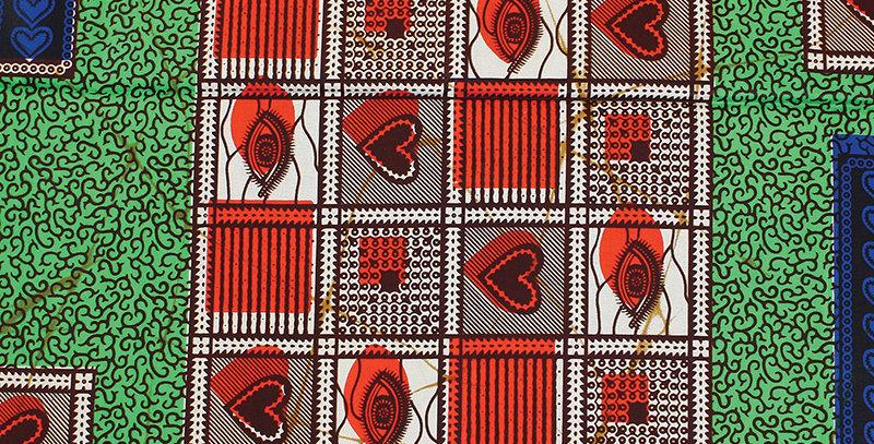 African Fabric - AJ4F310 T-2394 Green