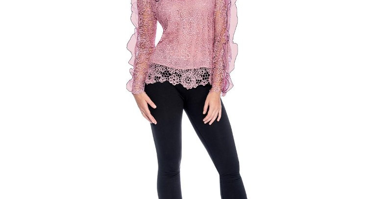 110364 - Top Lace Ruffle - Mauve