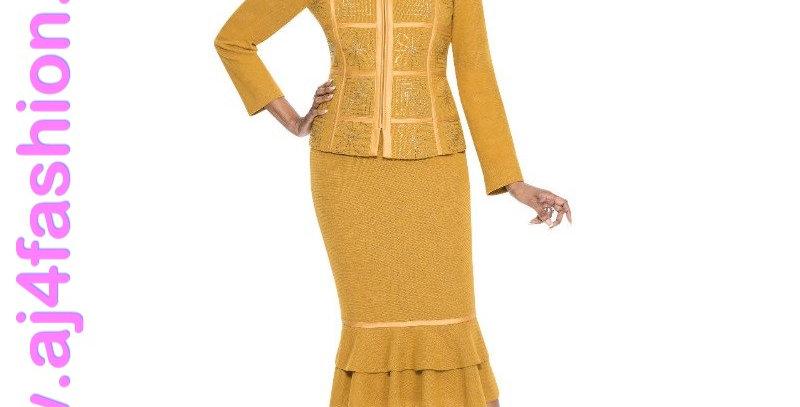 137454 - 2 Pcs Suit-Knit - Mustard