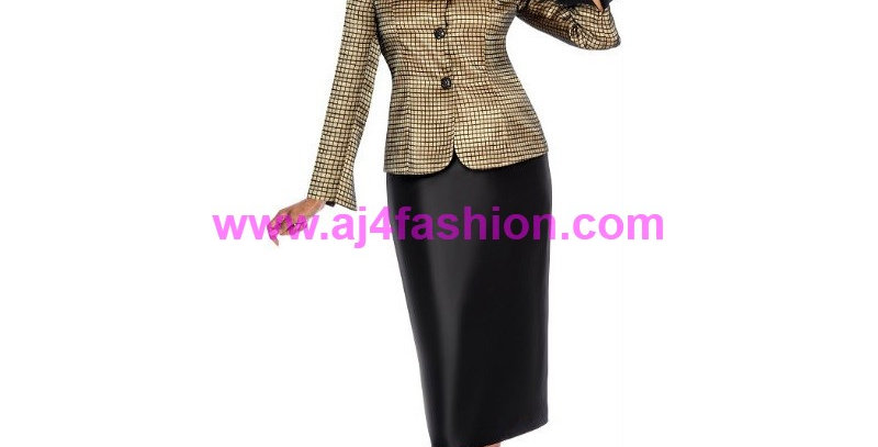 274884 - 2Pcs. Suit Plus Hat-Gold/Black