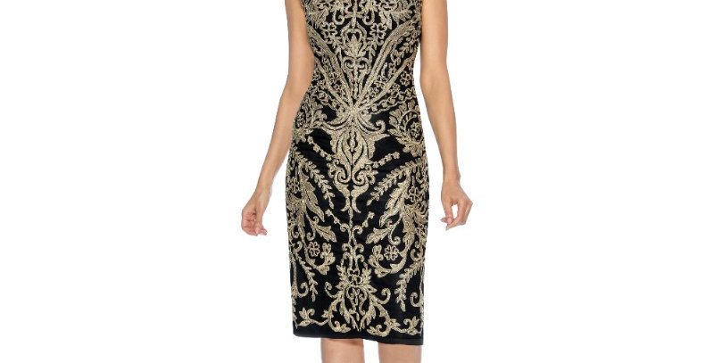 386684 - Dress for Special Occasion - Black/Gold