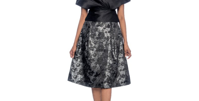 120314 - Skirt-Black/Silver