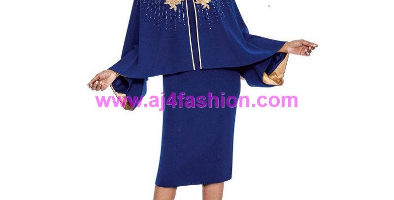 136664 - Dress & Jacket-Knit - Royal/Gold