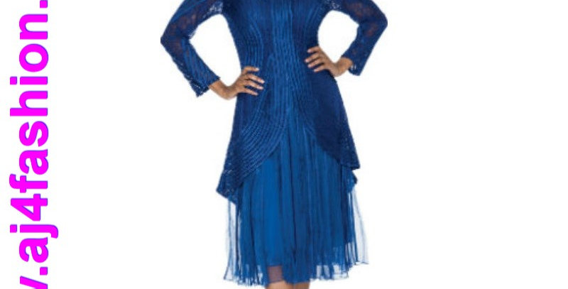 137504 - 2 Pcs Dress & Jacket - Royal (Light for hot season)