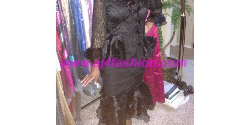 275054 - 3 Pcs Blouse/Skirt- Black
