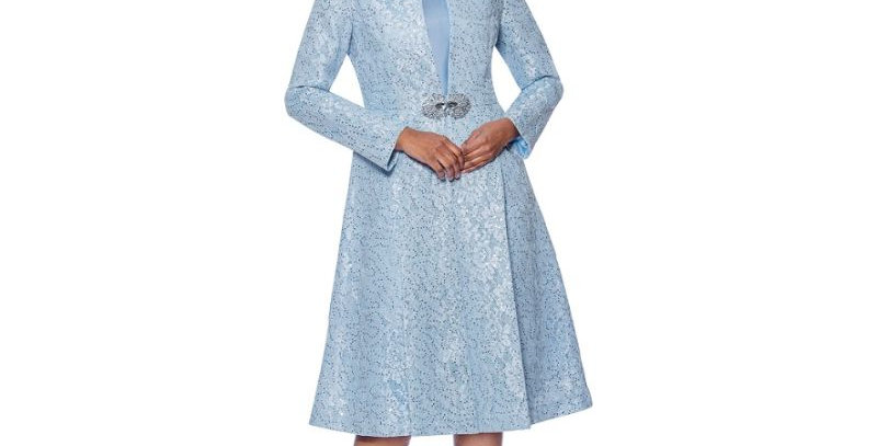 139484 -2 Pcs Dress & Jacket - Baby Blue