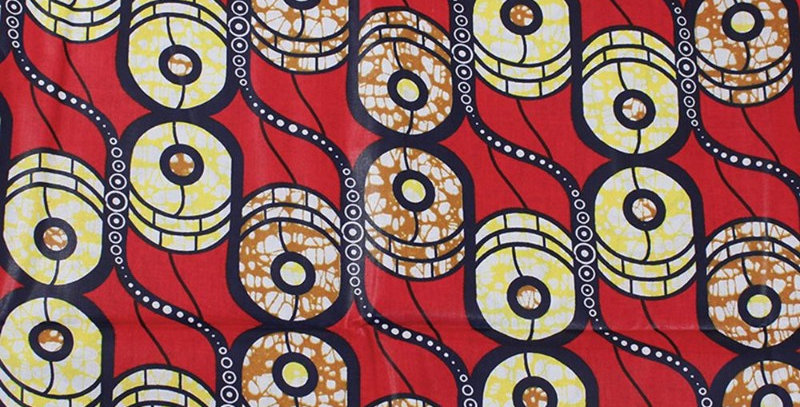 African Fabric - AJ4F334-Red-6 Yards