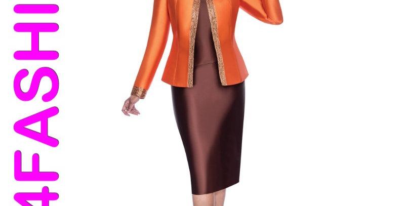 276374 - 3Pcs Suit-Orange/Brown