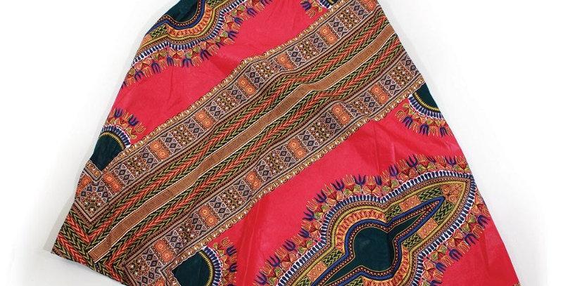 African Skirt Wrap-AJ4F212-6007-Red/Royal