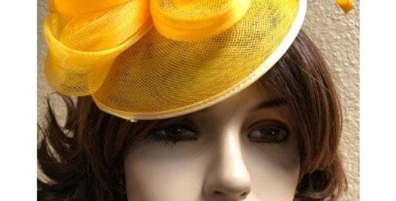 AJ4F340 Hat-Yellow- Headpiece with Net