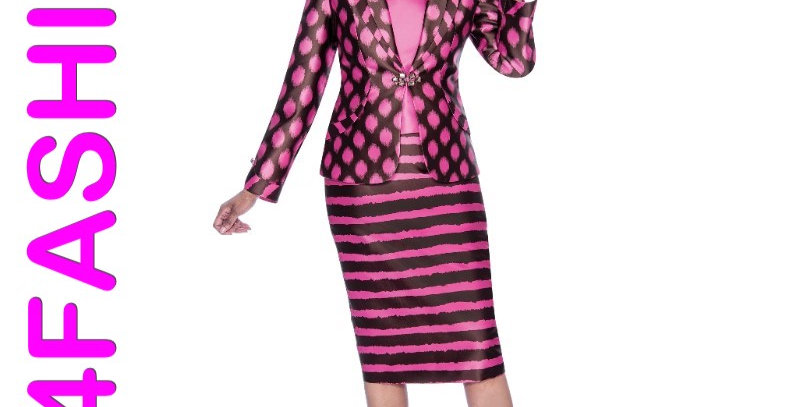 276874 -3Pcs Suit-Brown/Pink