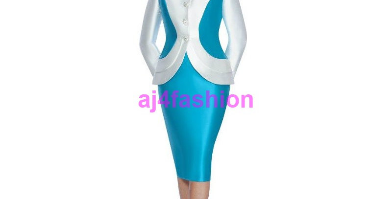 136134 - 2 Pcs Suit -Teal/Pearl