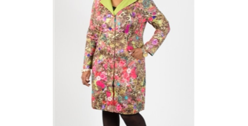 Rossi Roma R108 Print Jacket -Lime