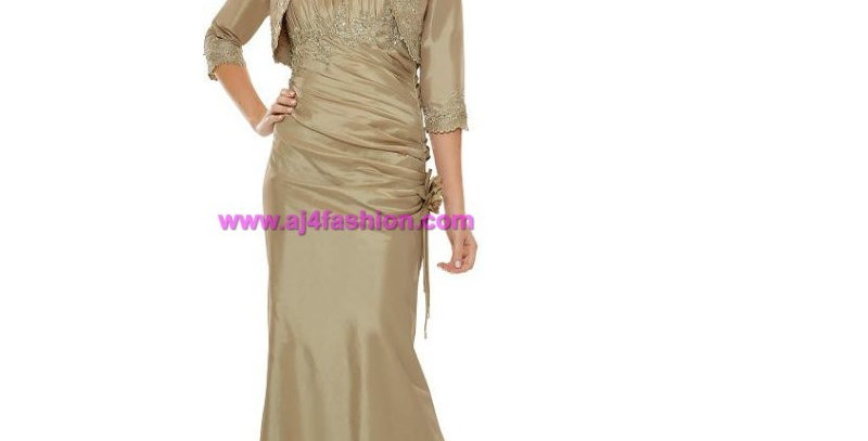 382204 -2 Pcs Evening/Special Occasion Dress -Gold