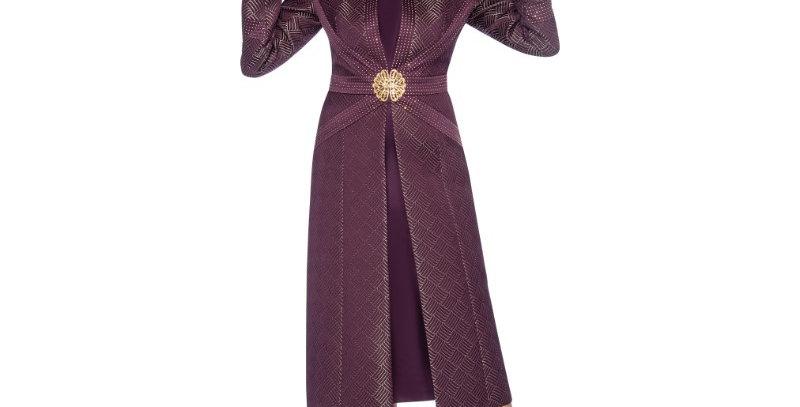 138654 -2 Pcs Dress & Jacket - Plum