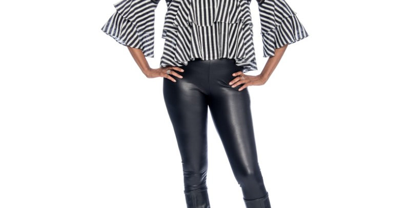 110434- Top Lace Babydoll-Black/White