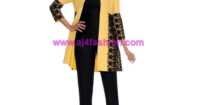 136314 -3 Pcs Pant Set -Yellow/Black