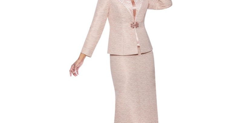 139464 - 3 Pcs Suit Plus Hat - Mauve Metallic