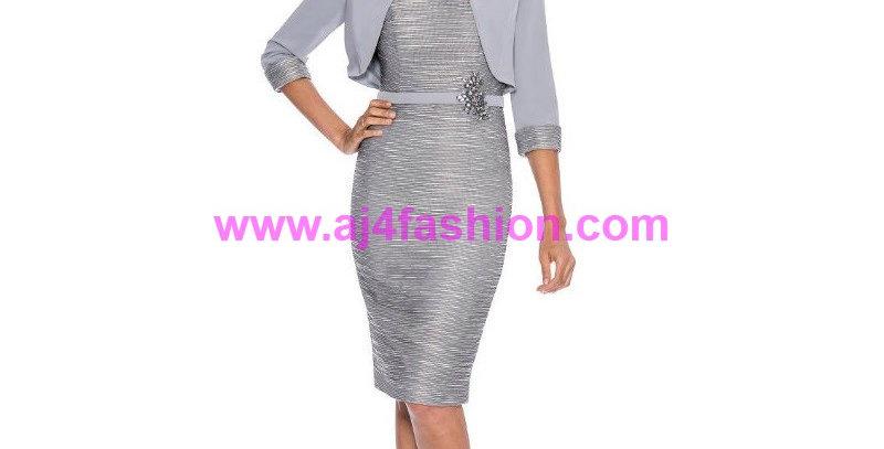 385254 -  Dress & Jacket 8525 - Grey