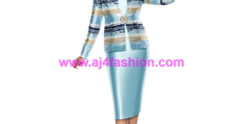 136864 - 3Pcs Suit - Turquoise/Multi