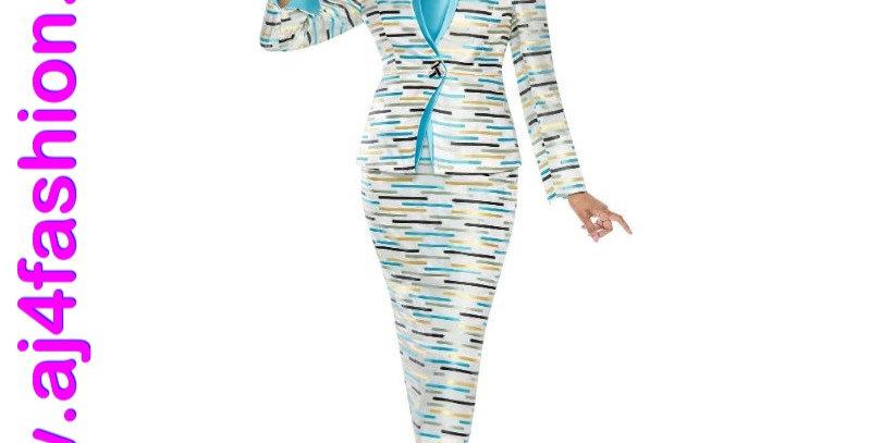 137664 - 3Pcs Suit - Turquoise Multi