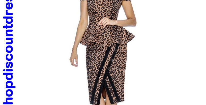 510914 - Top & 2054 Skirt (fall season) - 2 Pcs Set - Leopard