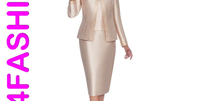 276374 -3Pcs Suit Plus Hat-Champagne