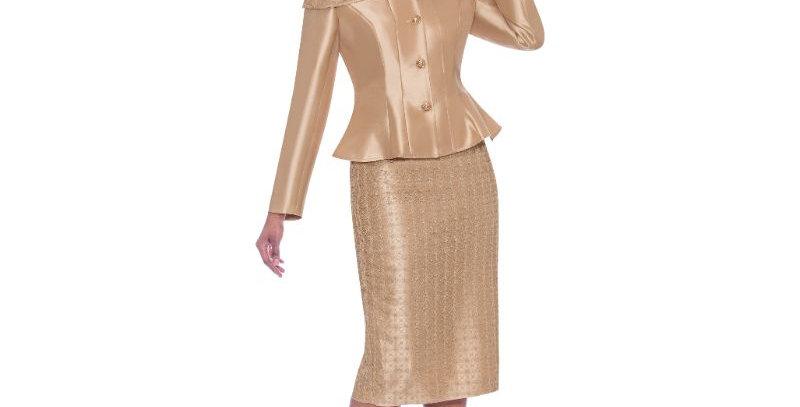277924 -2Pcs Suit Plus Hat- Gold