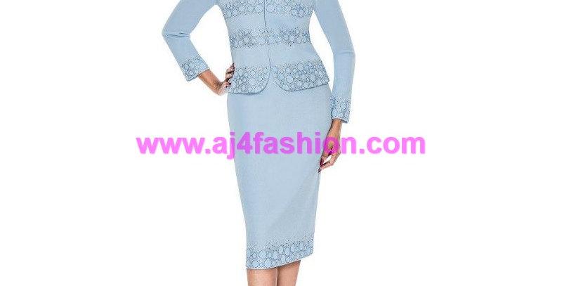 137164 - 2 Pcs Suit - Knit - Blue