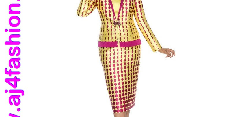275964 - 3 Pcs Suit -Yellow/Fuchsia