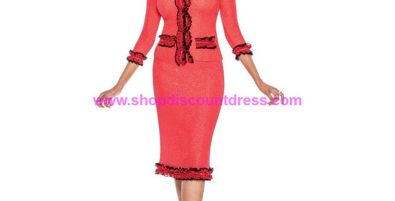 136734 - 2 Pcs Skirt Set -Red