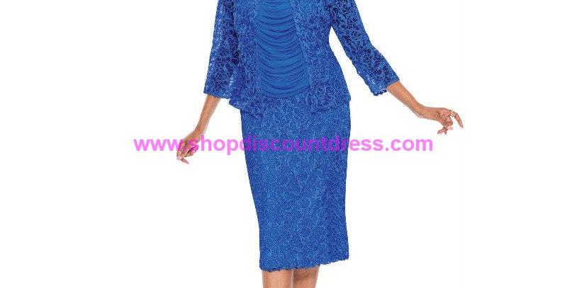 275064 - 3 Pcs- Blouse-Cami-Skirt - Royal