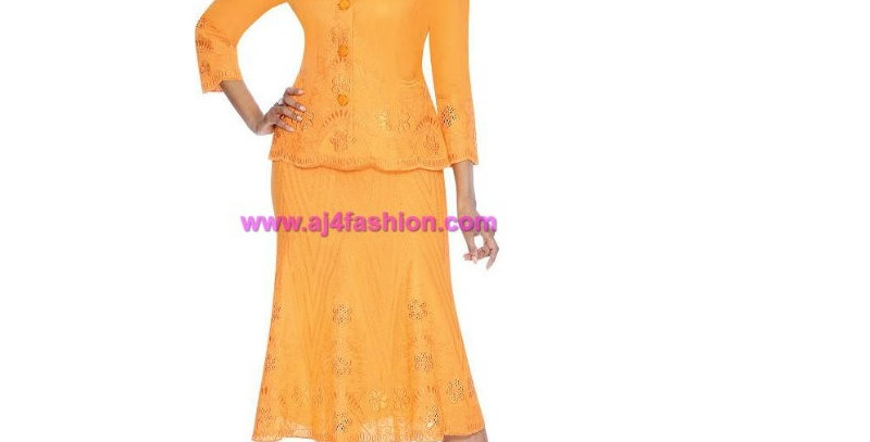 274734 -2 Pcs Top $ Skirts - Orange