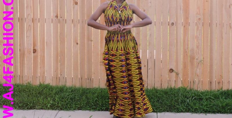 African Maxi Dress - AJ4F216-5005