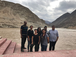 GenSCAPE lab and Dr. Niraj Rai's group by the confluence of Indus and Zanskar Rivers in Ladakh