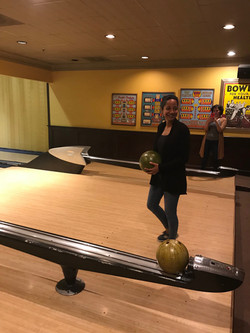 Bowling. And photographing.