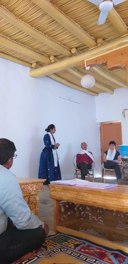Maanasa welcomes participants to the workshop