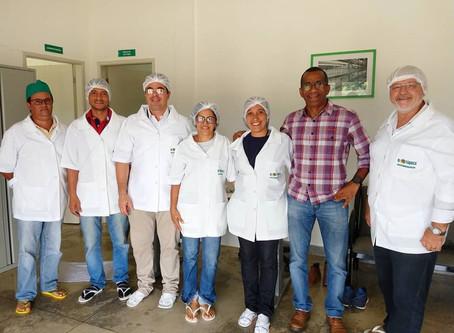 Representantes da Embrapa em visita a Biofábrica