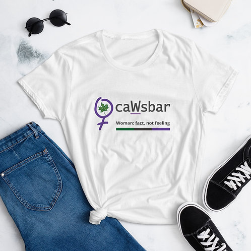 caWsbar White tee -
