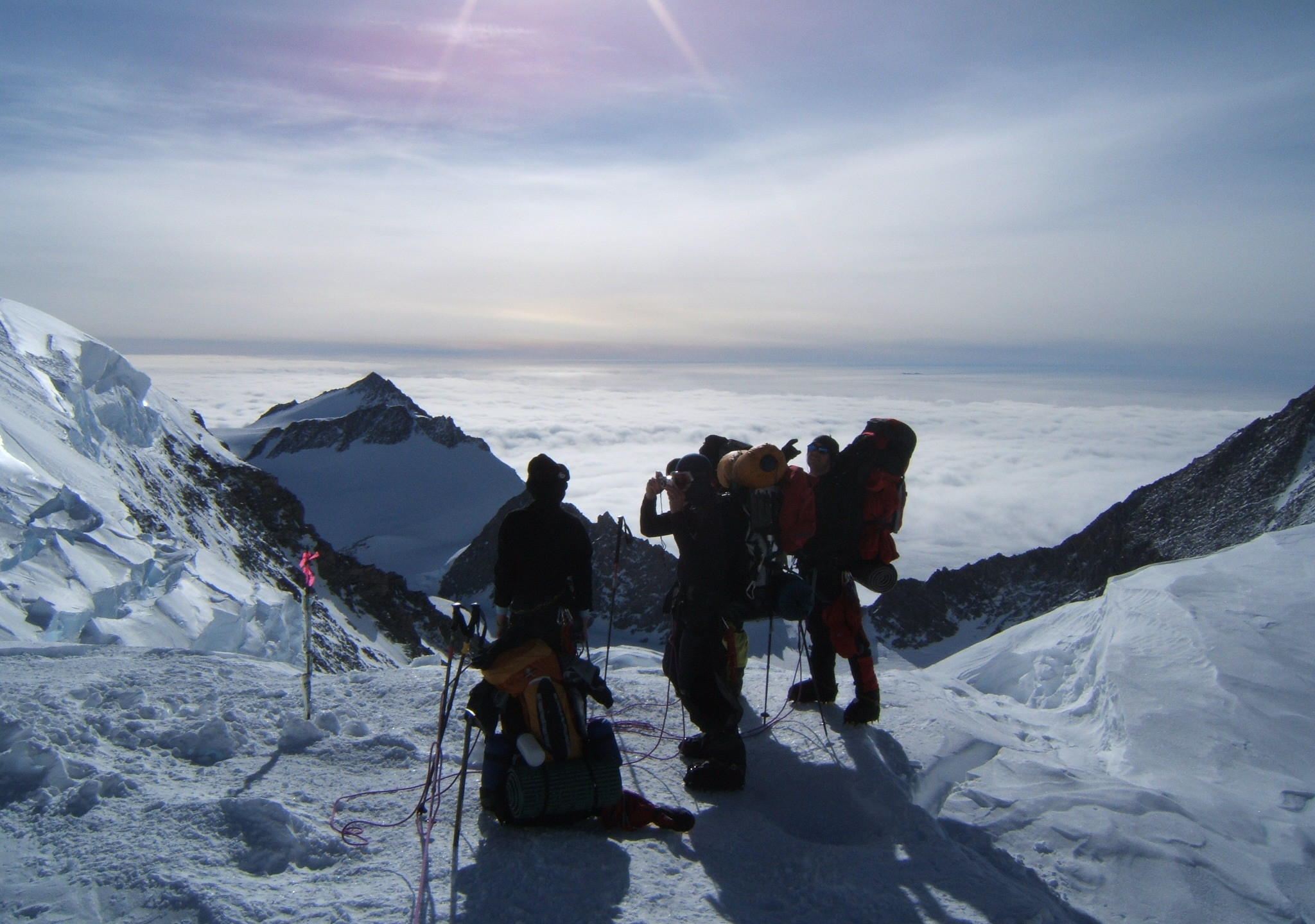 On route to high camp